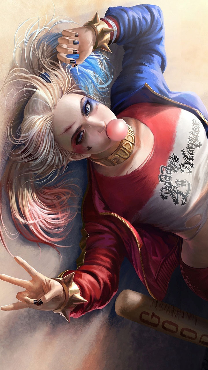 Anime Harley Quinn Fan Art 564x1002 Download Hd Wallpaper Wallpapertip