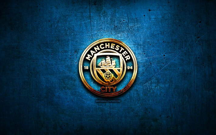 Manchester City Fc Golden Logo Premier League Blue Logo Wallpaper Logo Man City 710x444 Download Hd Wallpaper Wallpapertip