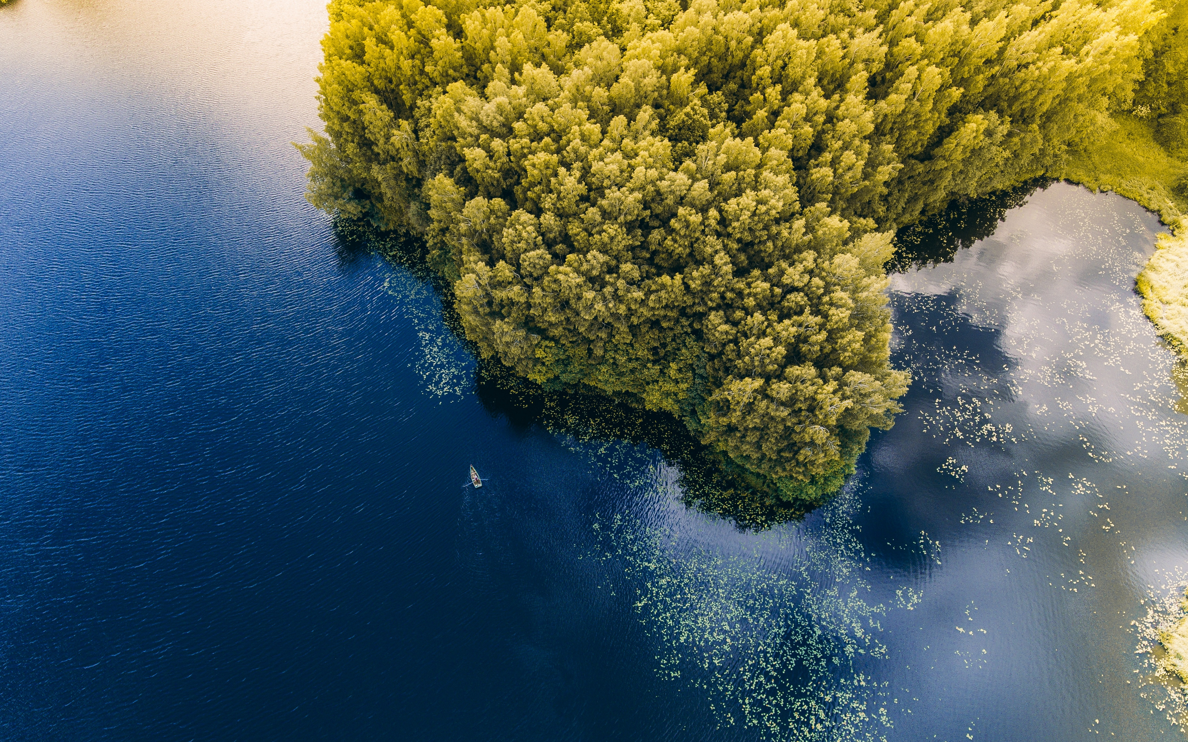 Wallpaper Sea Boat Aerial View Trees Lithuania Nature Aerial View 3840x2400 Download Hd Wallpaper Wallpapertip