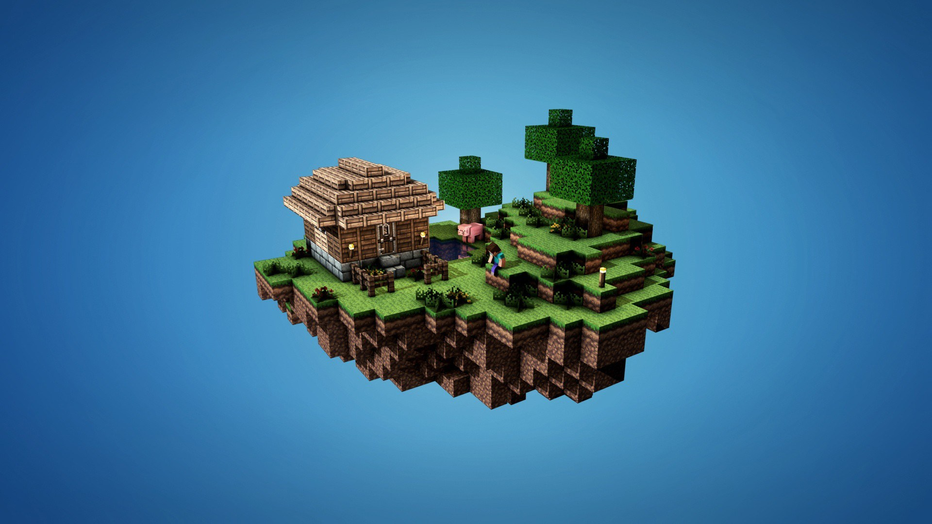 Top 10 Minecraft Wallpapers 3 10 Minecraft Sky Island House 1920x1080 Download Hd Wallpaper Wallpapertip