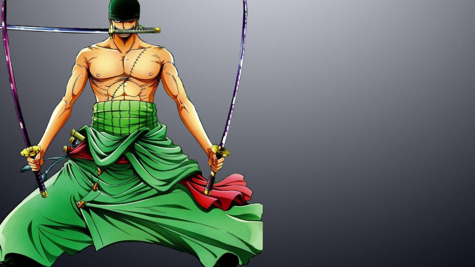 Roronoa Zoro With Swords One Piece Hd Desktop Wallpaper 1600x900 Download Hd Wallpaper Wallpapertip