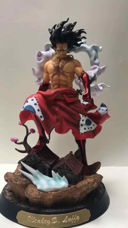 Anime One Piece Wano Luffy Gear 4 Snakeman Gk Statue 844x1500 Download Hd Wallpaper Wallpapertip