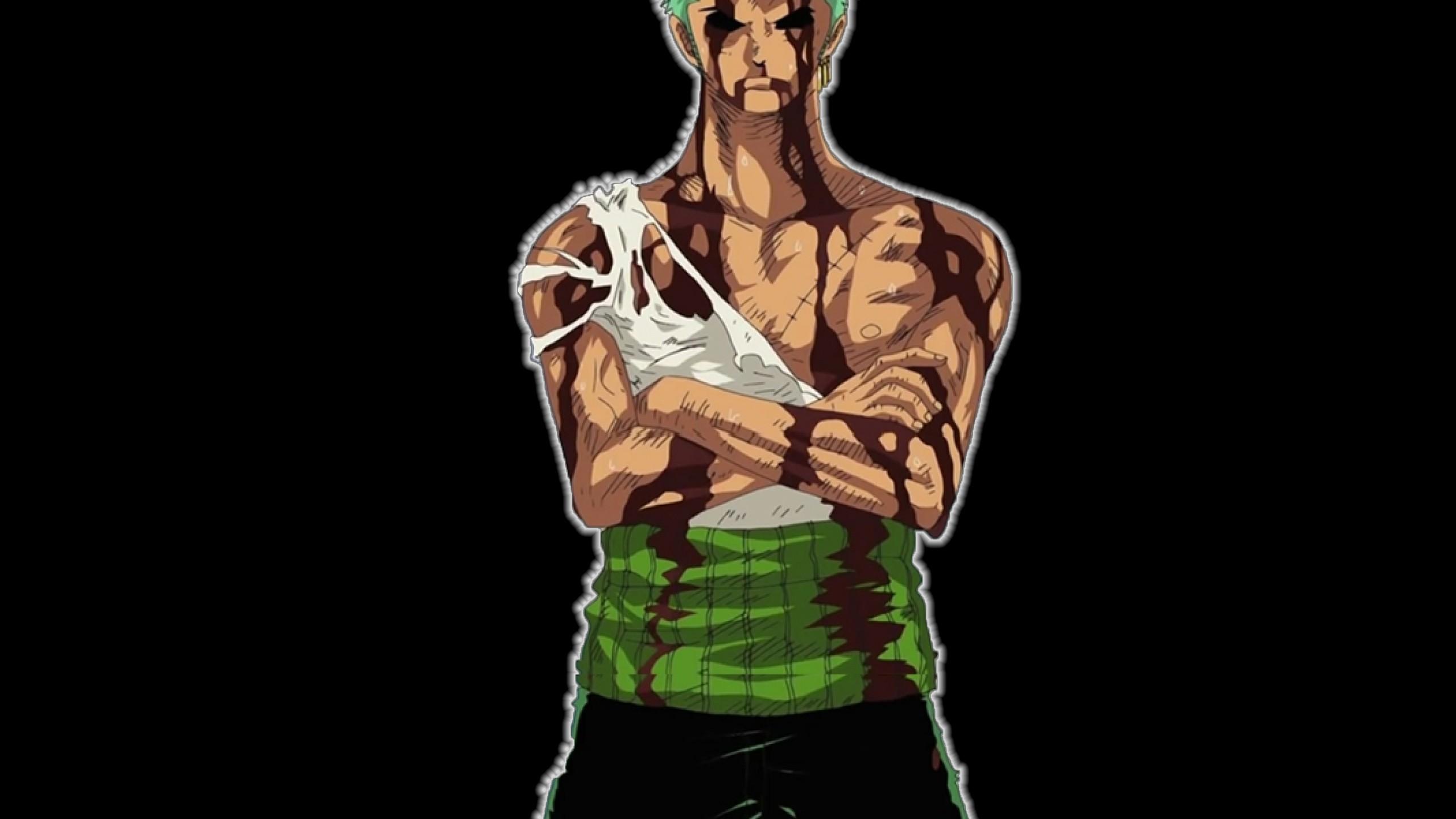 One Piece Zoro Zorro Roronoa Black Background Wallpaper 2560x1440 Download Hd Wallpaper Wallpapertip