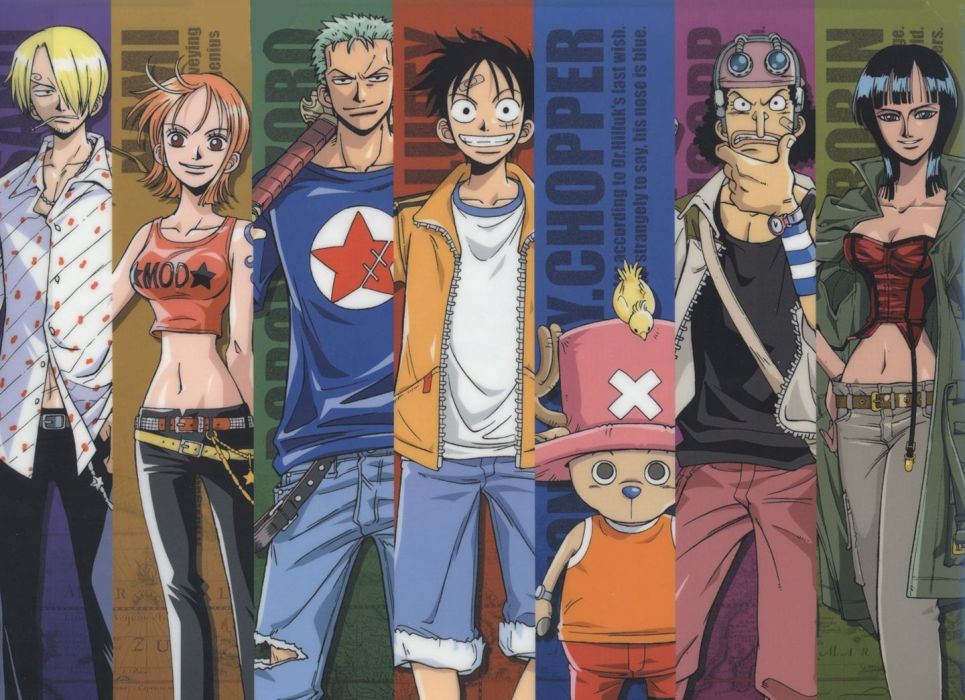 Monkey D Luffy Nami One Piece Nico Robin One Piece 965x700 Download Hd Wallpaper Wallpapertip