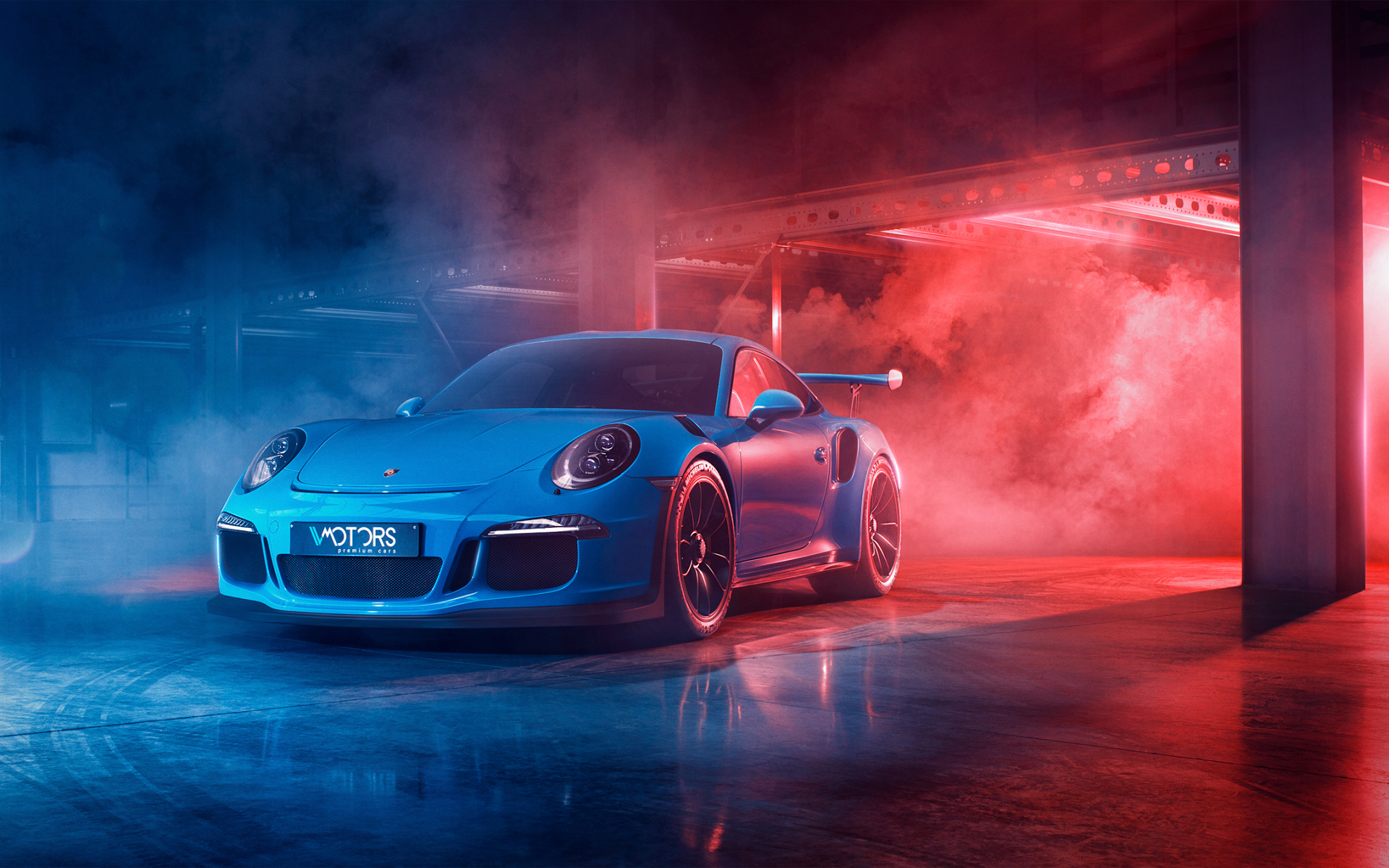 Blue Car Smoke Porsche 911 Gt3 Sport Car Wallpaper 1920x1200 Download Hd Wallpaper Wallpapertip