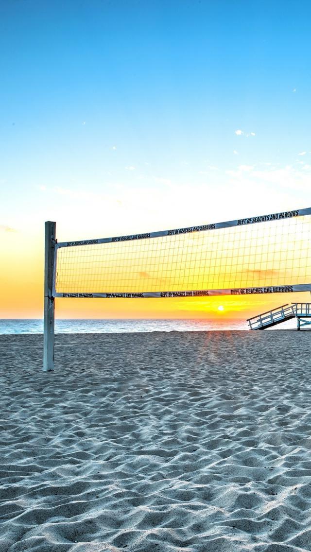 Volleyball Net At Beach 240x400 Download Hd Wallpaper Wallpapertip