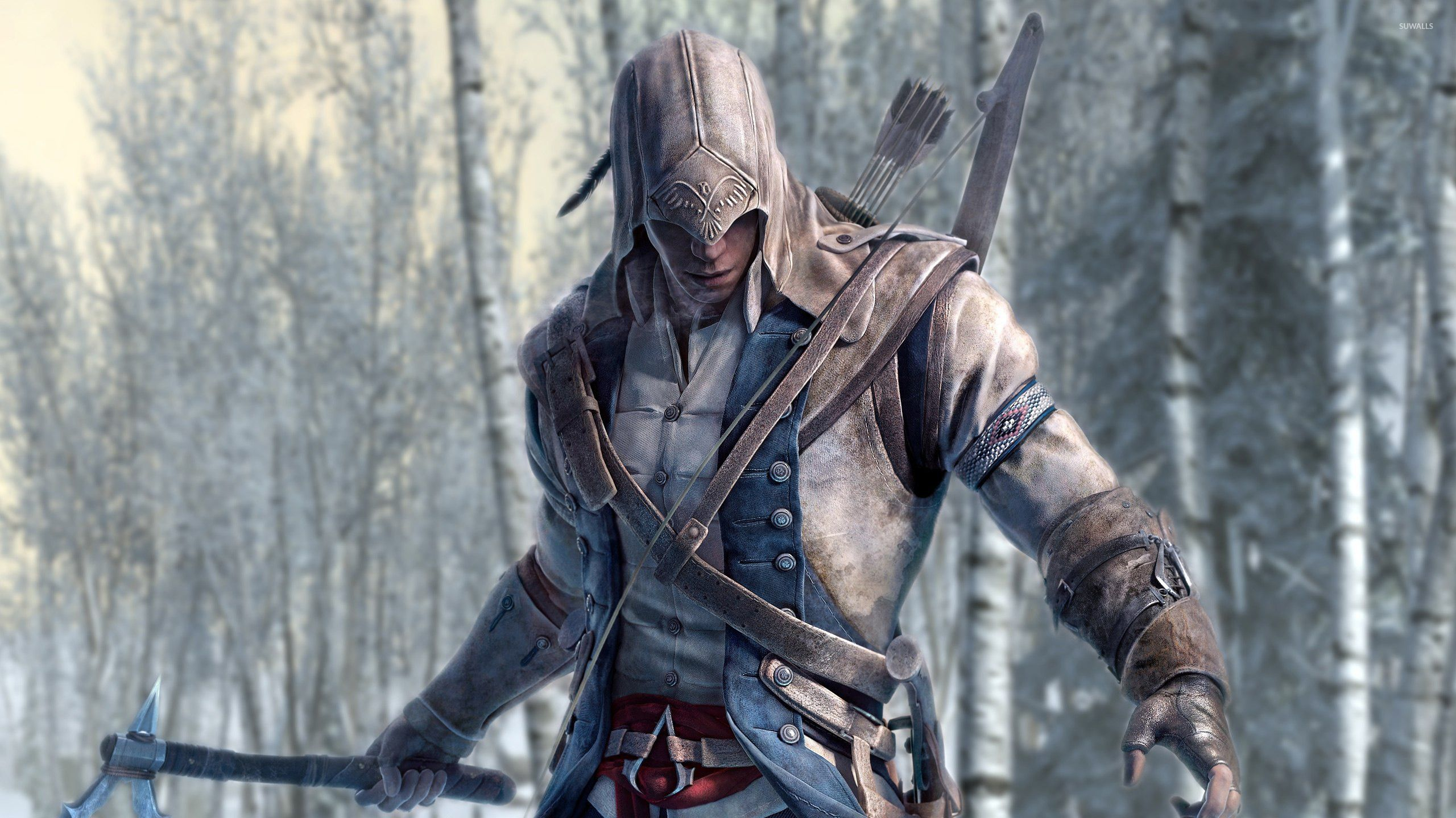 Assassin S Creed Iii Wallpaper Connor Kenway Face Hd 2560x1440