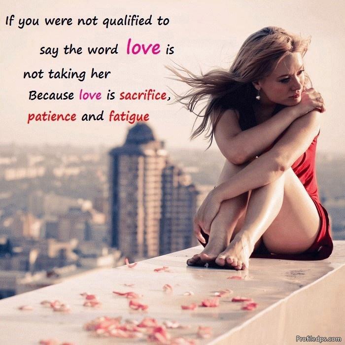 Her sad romantic quotes for Best Romantic