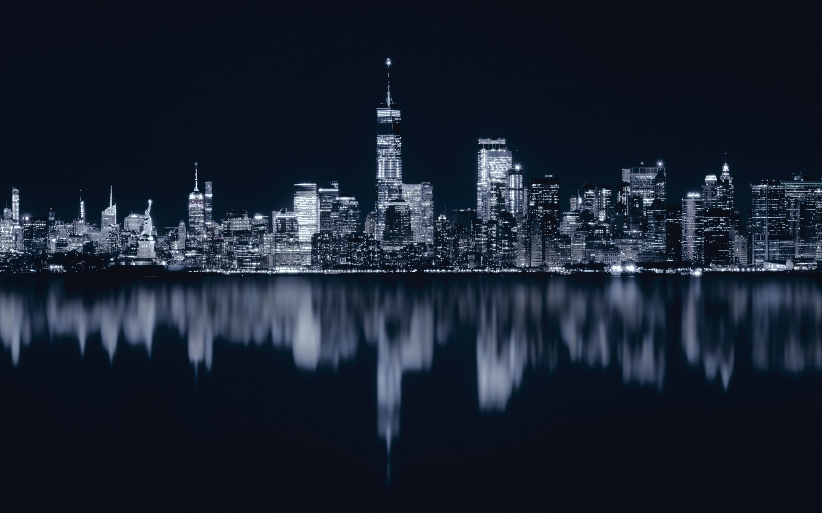 New York City At Night Wallpaper 2880x1800 Download Hd Wallpaper Wallpapertip