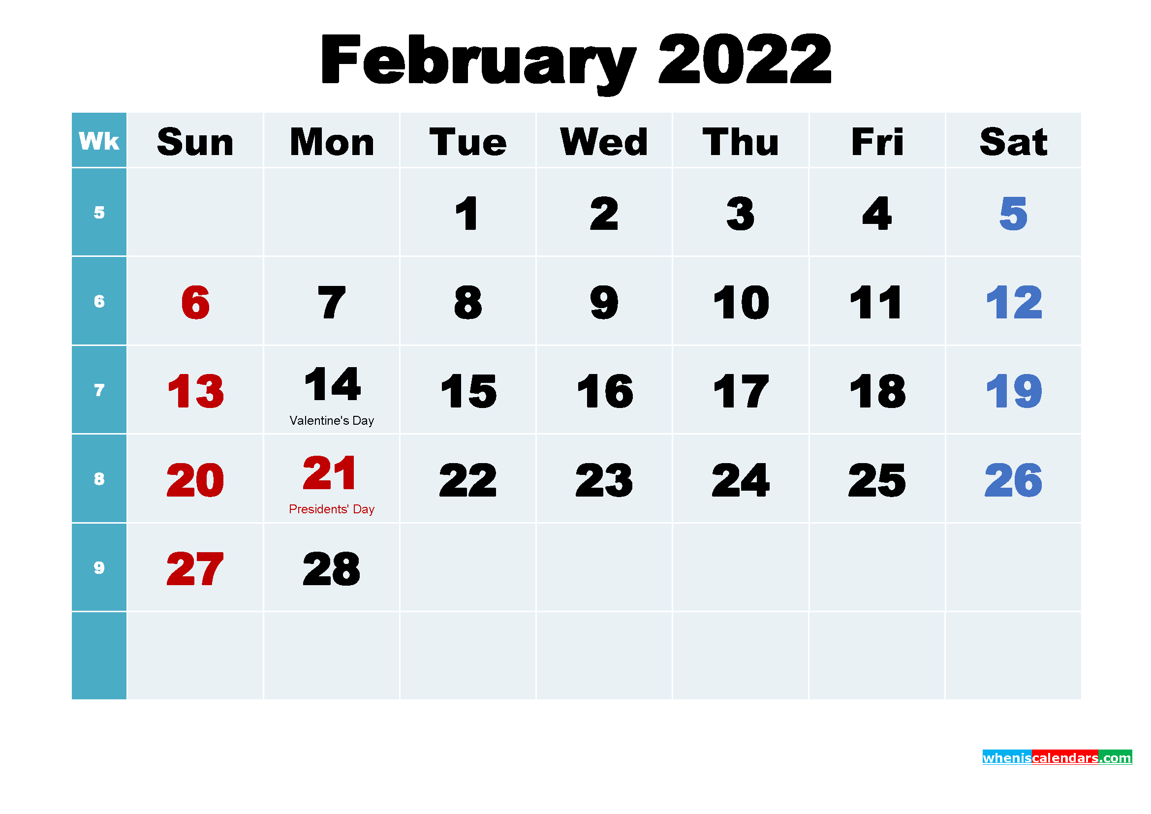 Free Desktop Calendar 2022.Free Printable February 2022 Calendar Wallpaper 2339x1654 Download Hd Wallpaper Wallpapertip