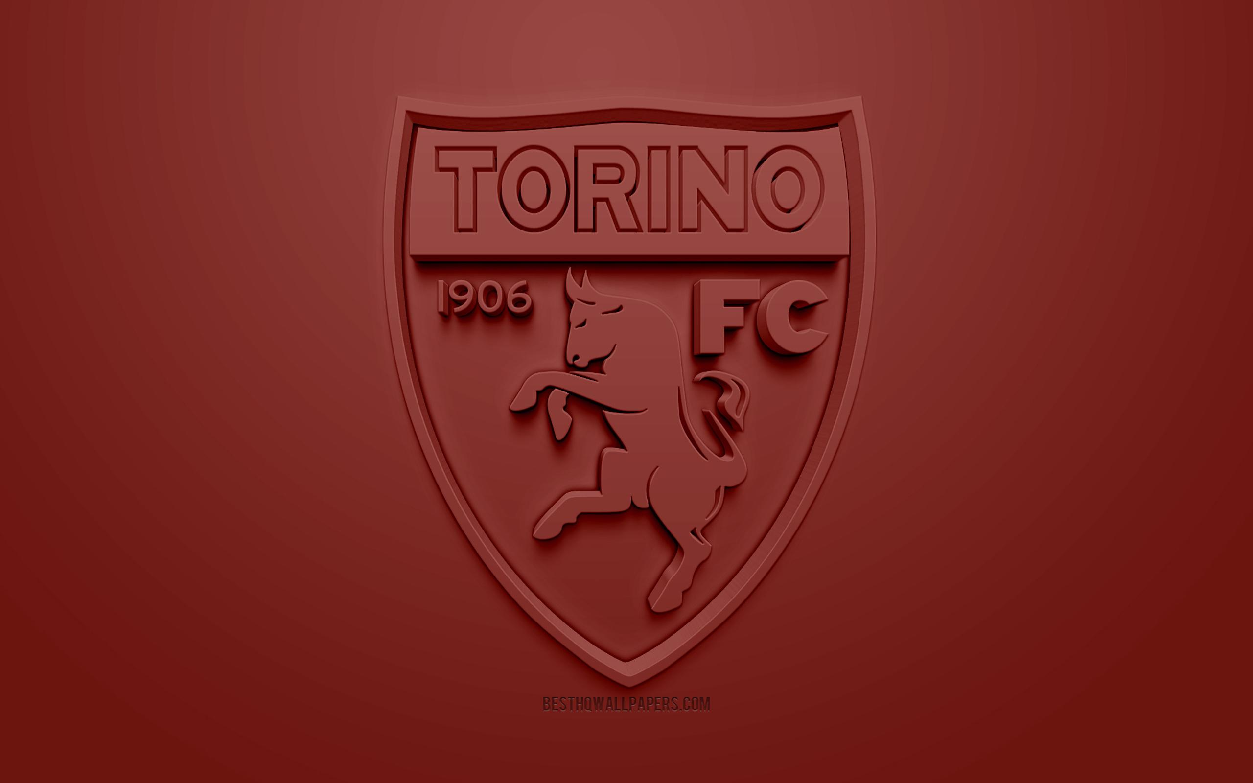 Torino Fc, Creative 3d Logo, Brown Background, 3d Emblem, - 2560x1600 -  Download HD Wallpaper - WallpaperTip