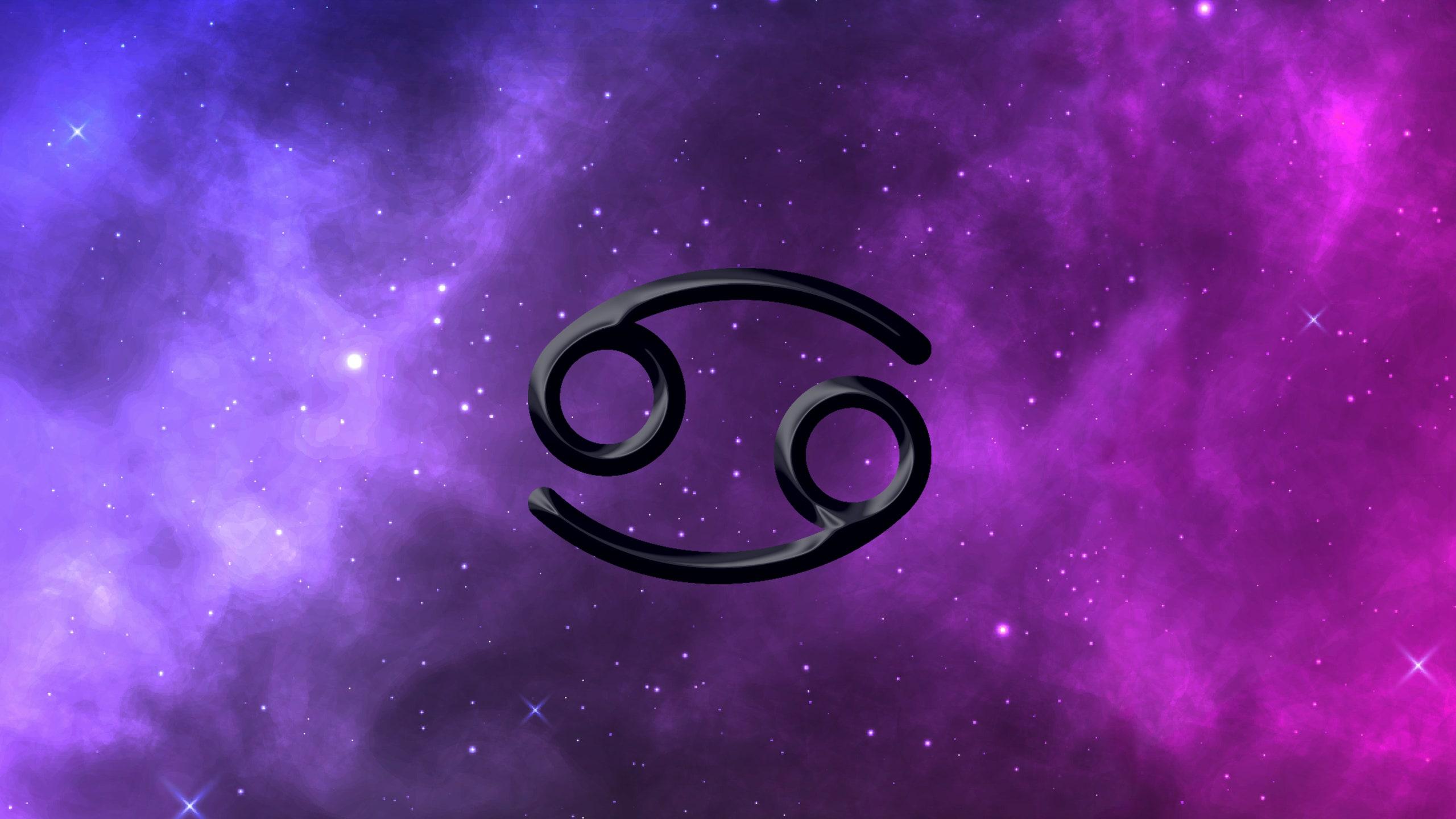 229 2290975 cancer zodiac sign on starry background