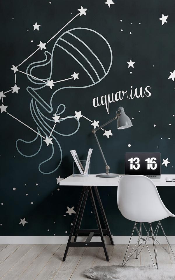 Aquarius Sign Zodiac Wallpaper 600x960 Download Hd Wallpaper Wallpapertip