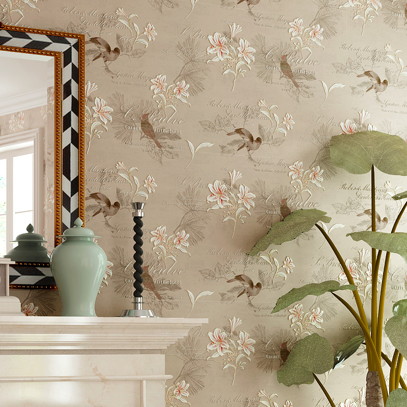 Vintage Floral 4d Wall Paper Roll Living Room Bedroom 800x800 Download Hd Wallpaper Wallpapertip