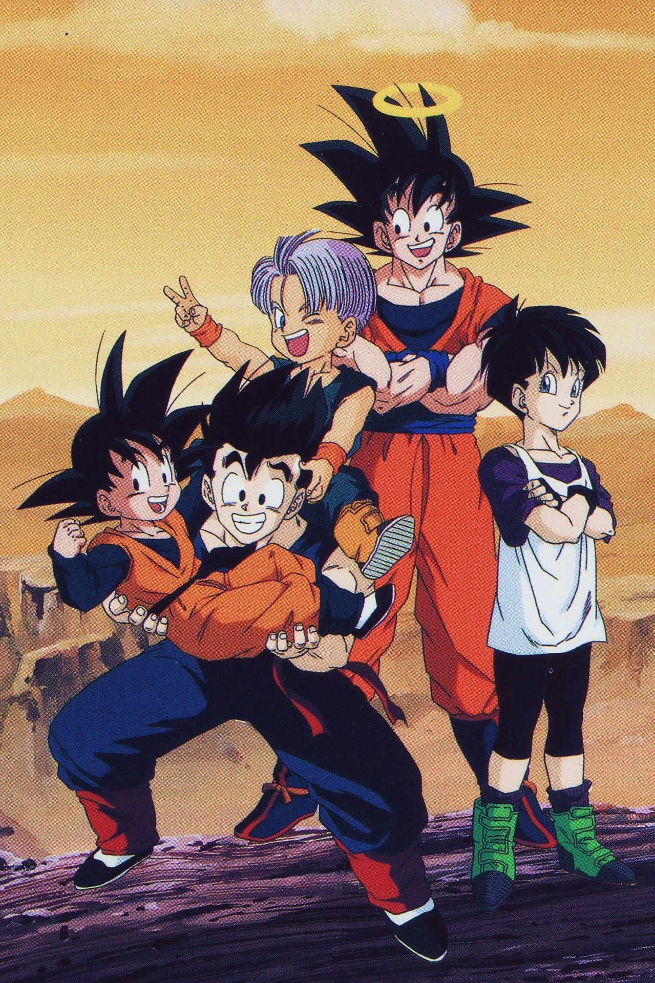 Goku Gohan Goten Trunks And Videl Data Src Gohan Goten Dragon Ball 1279x1920 Download Hd Wallpaper Wallpapertip
