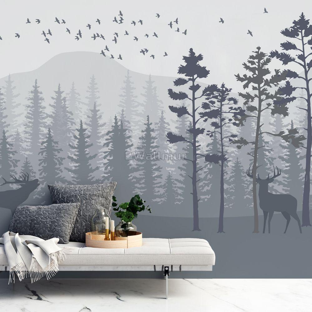 Forest Mural Wallpaper 1000x1000 Download Hd Wallpaper Wallpapertip