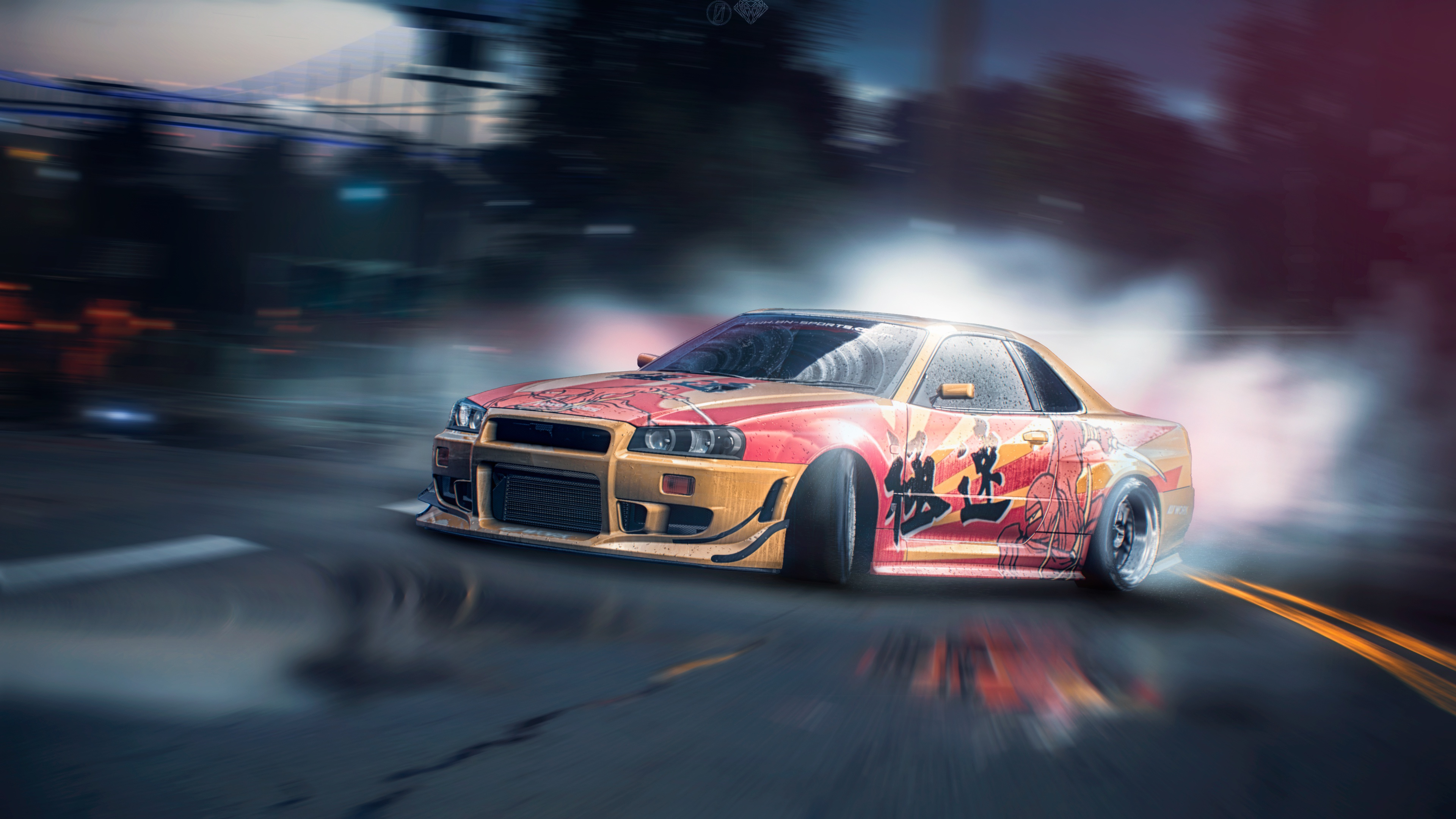 Nissan Skyline Drift Tuning R34 Need For Speed Game 3840x2160 Download Hd Wallpaper Wallpapertip