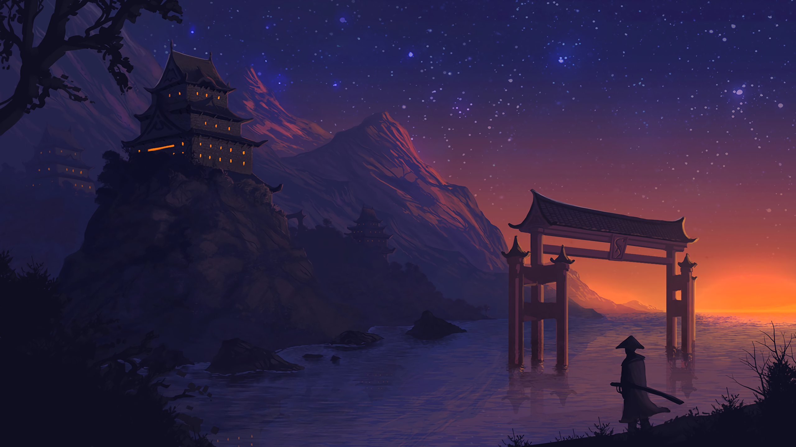 Night Anime Wallpaper 2560x1440 Download Hd Wallpaper Wallpapertip