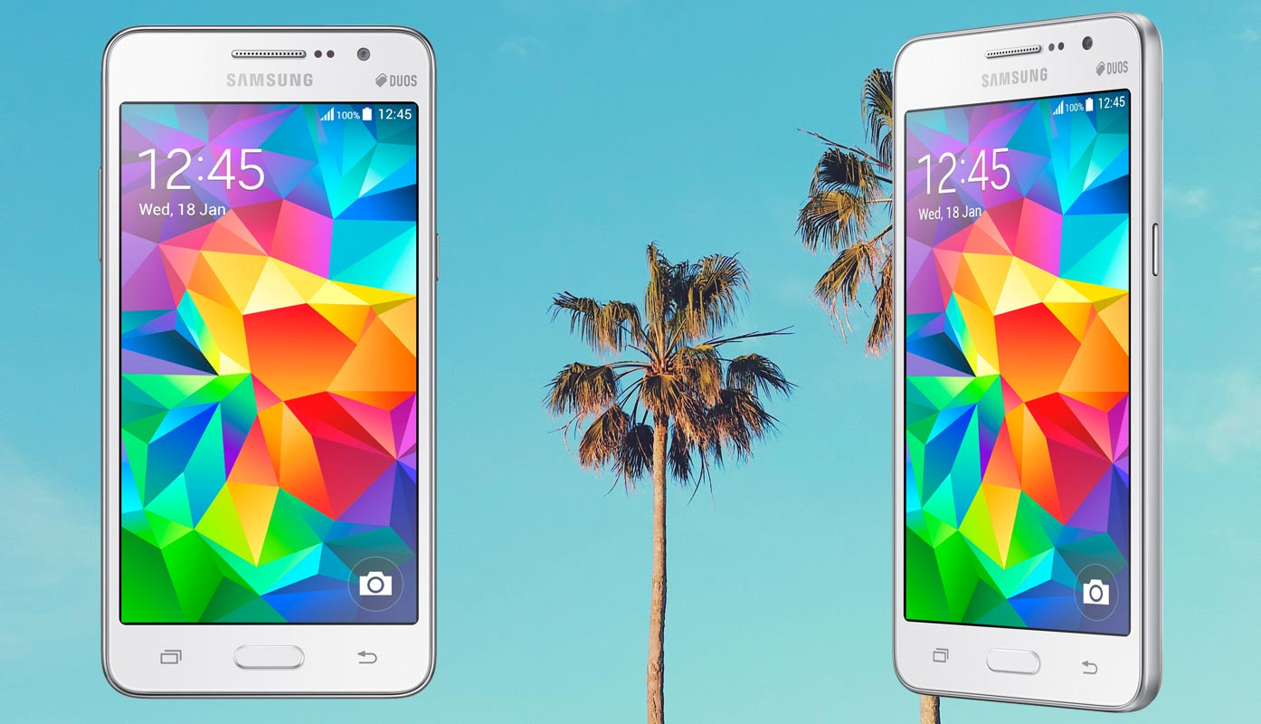 Samsung Galaxy Grand Prime With Palm Tree Background 1394x800 Download Hd Wallpaper Wallpapertip