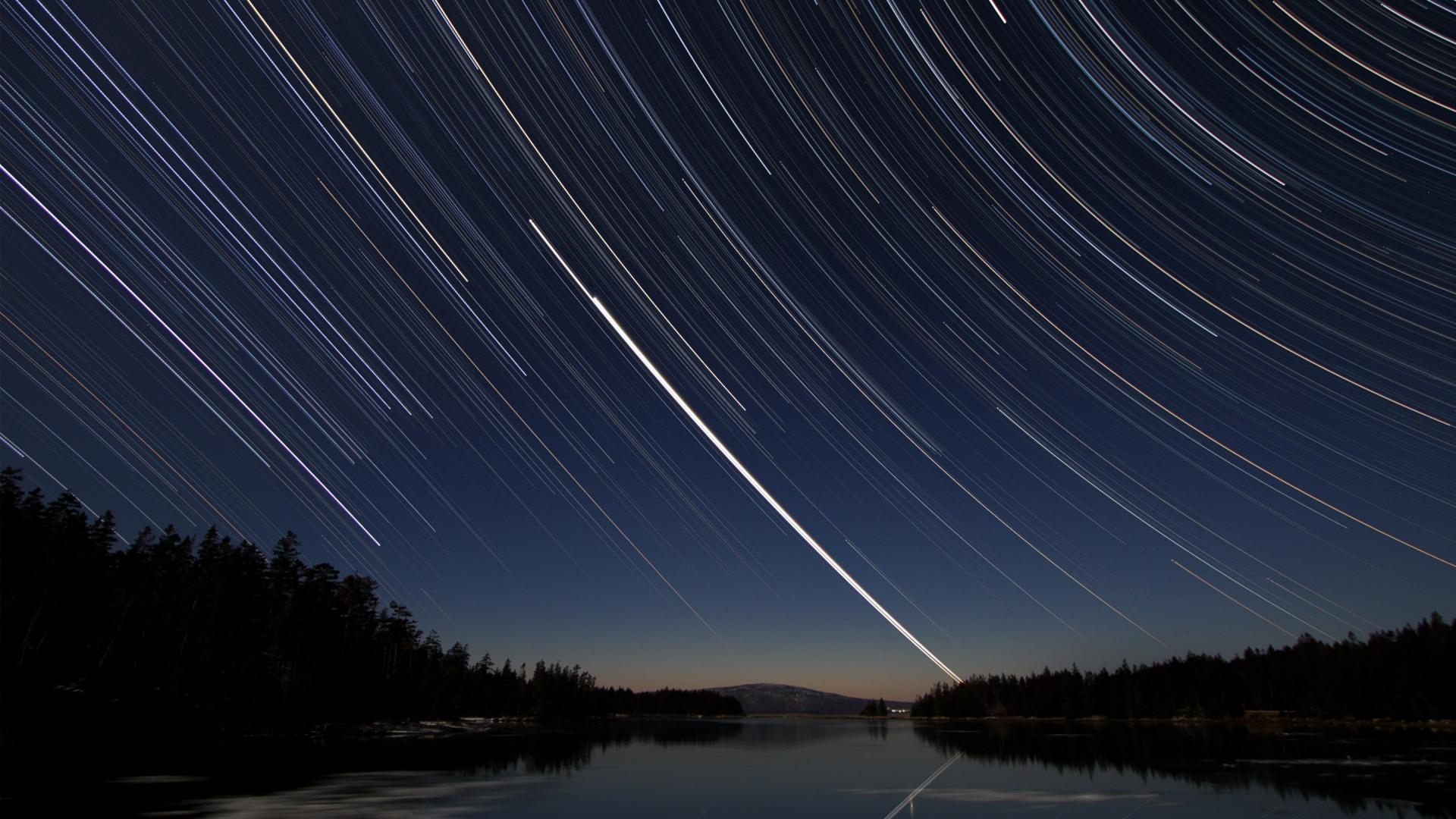 1080p Long Exposure Stars 1920x1080 Download Hd Wallpaper Wallpapertip