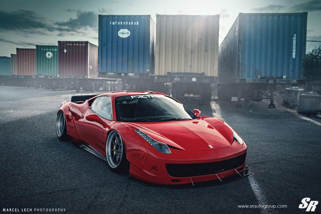 Sr Auto Group Ferrari 458 Italia Liberty Walk Wildebody 1050x700 Download Hd Wallpaper Wallpapertip