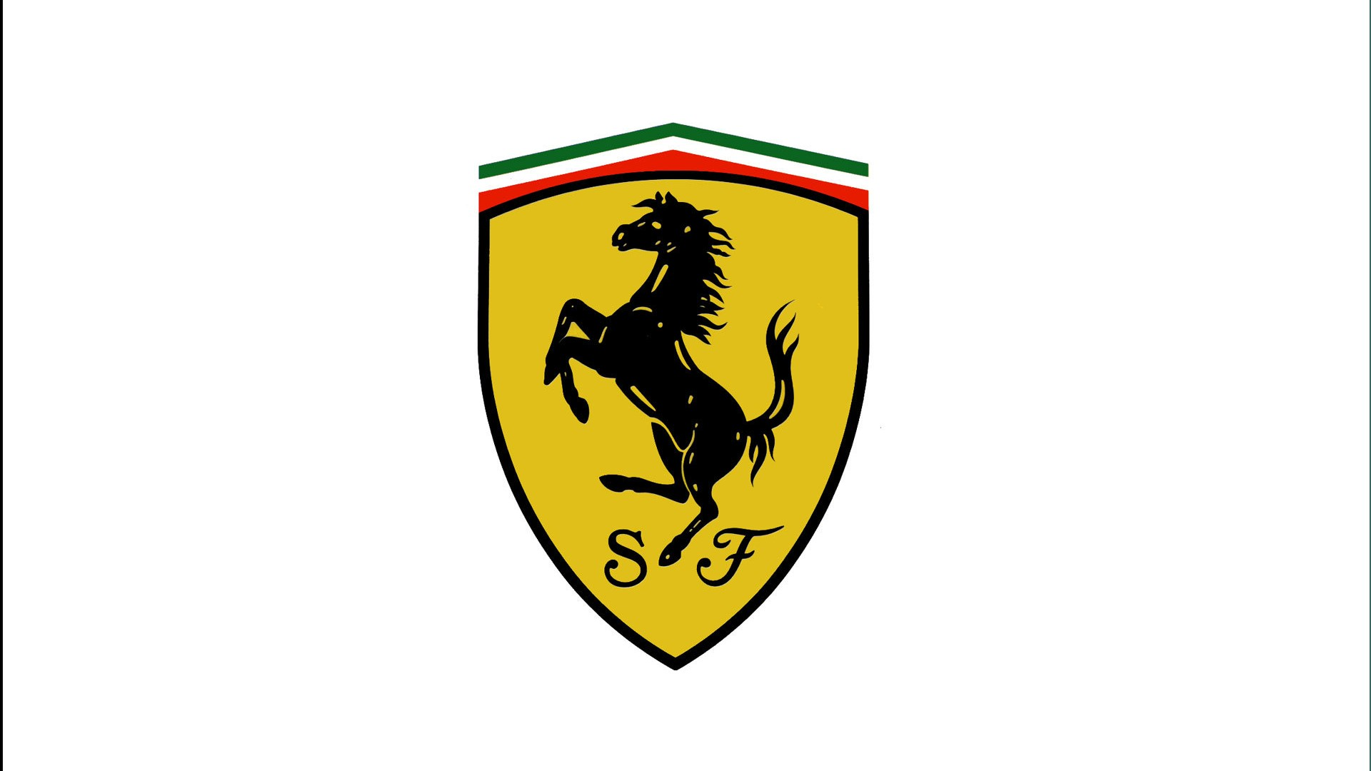 Scuderia Ferrari Logo White Background 1920x1080 Download Hd Wallpaper Wallpapertip