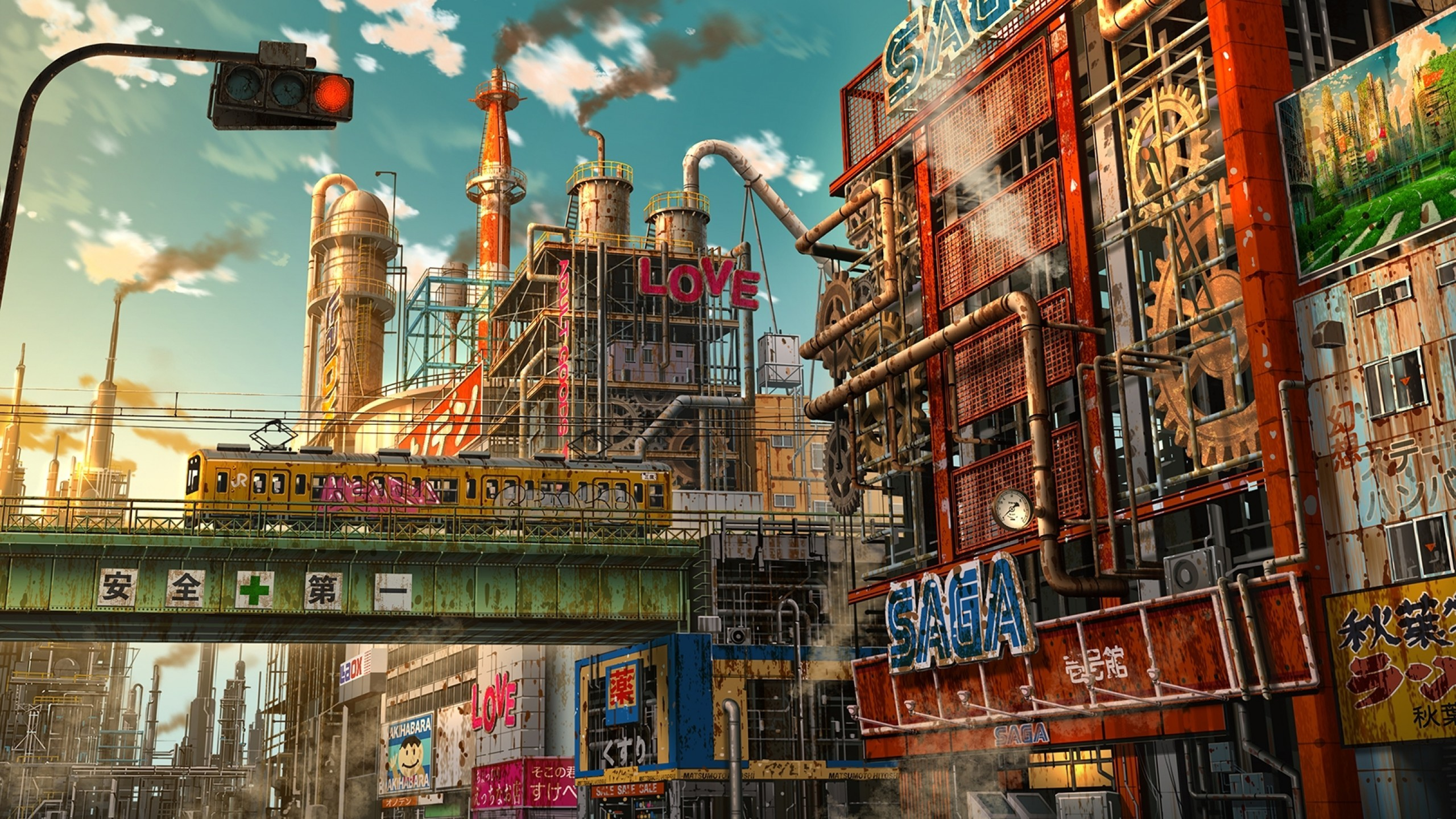 Futuristic Anime City Apocalypse Ruins Tokyo Japan 2560x1440 Download Hd Wallpaper Wallpapertip