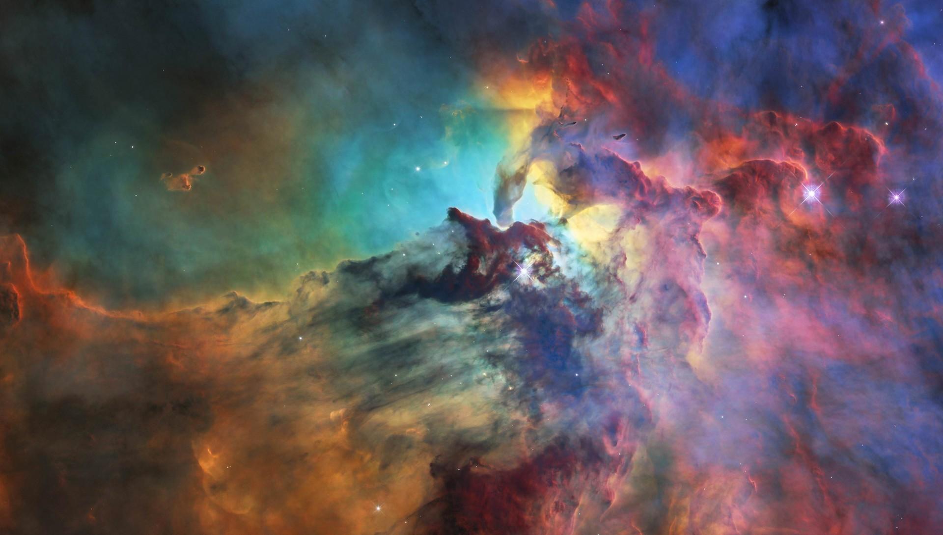 Lagoon Nebula Colorful Galaxy 1920x1090 Download Hd Wallpaper Wallpapertip