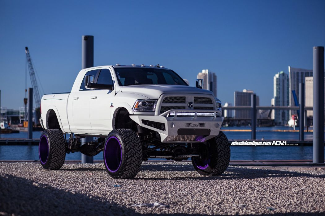 Dodge Ram 2500 White Cars Pickup Truck Adv1 Wheels 1050x700 Download Hd Wallpaper Wallpapertip