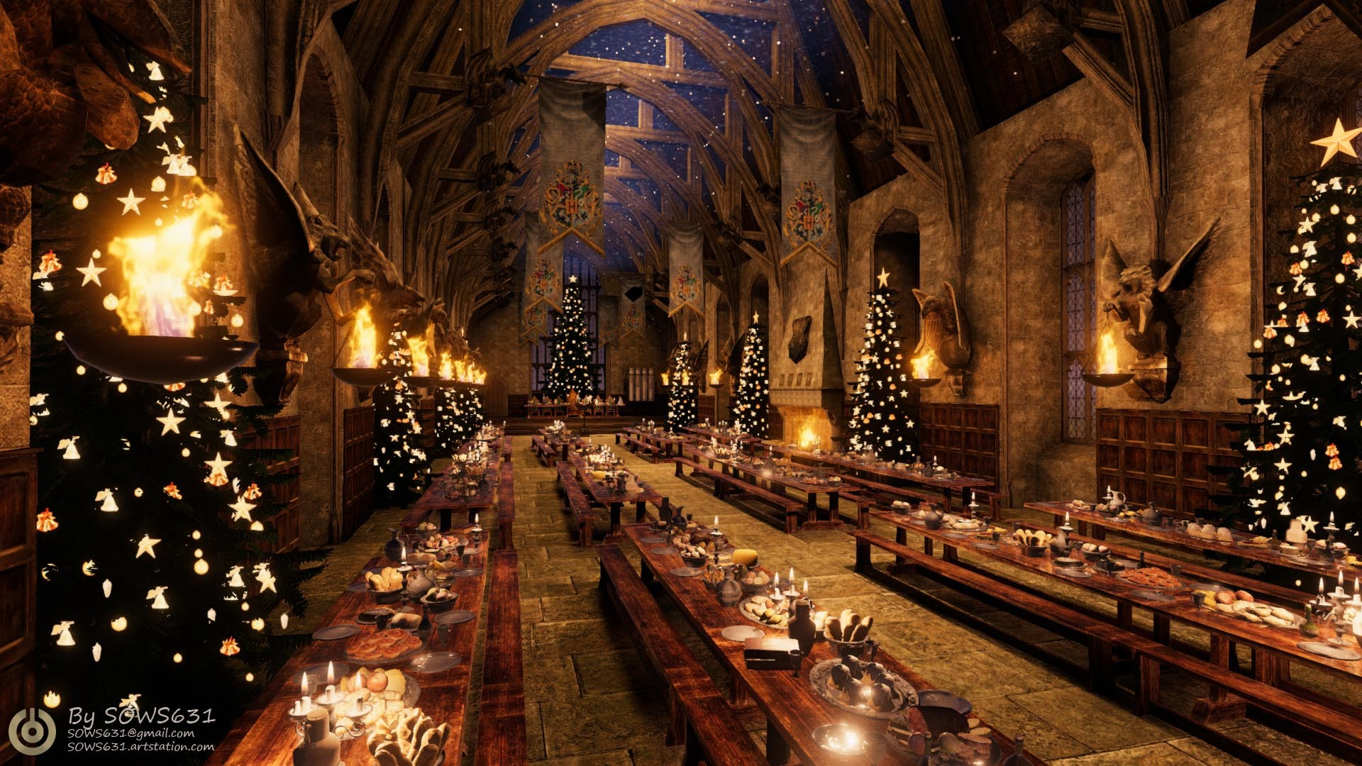 Harry Potter Christmas Wallpaper - 1920x1080 - Download HD Wallpaper -  WallpaperTip