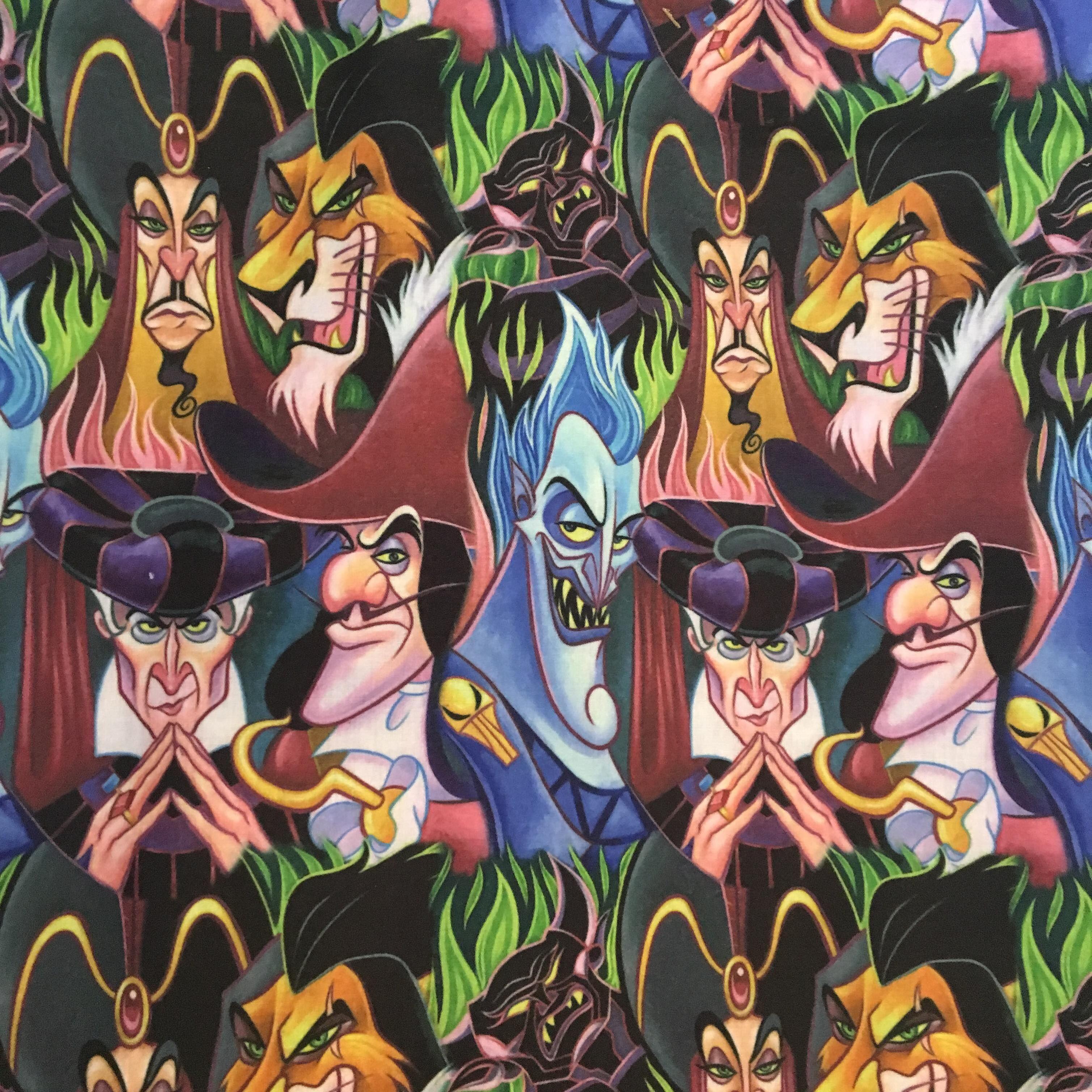 Disney Villain Wallpaper Fabric Disney Villains Cute 3018x3018 Download Hd Wallpaper Wallpapertip
