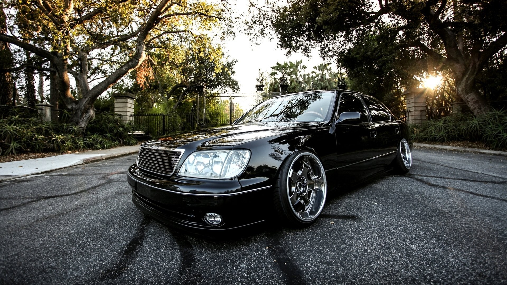 Car Wallpapers Black Vip Stance Luxury Lexus Ls400 Lexus Ls400 1920x1080 Download Hd Wallpaper Wallpapertip