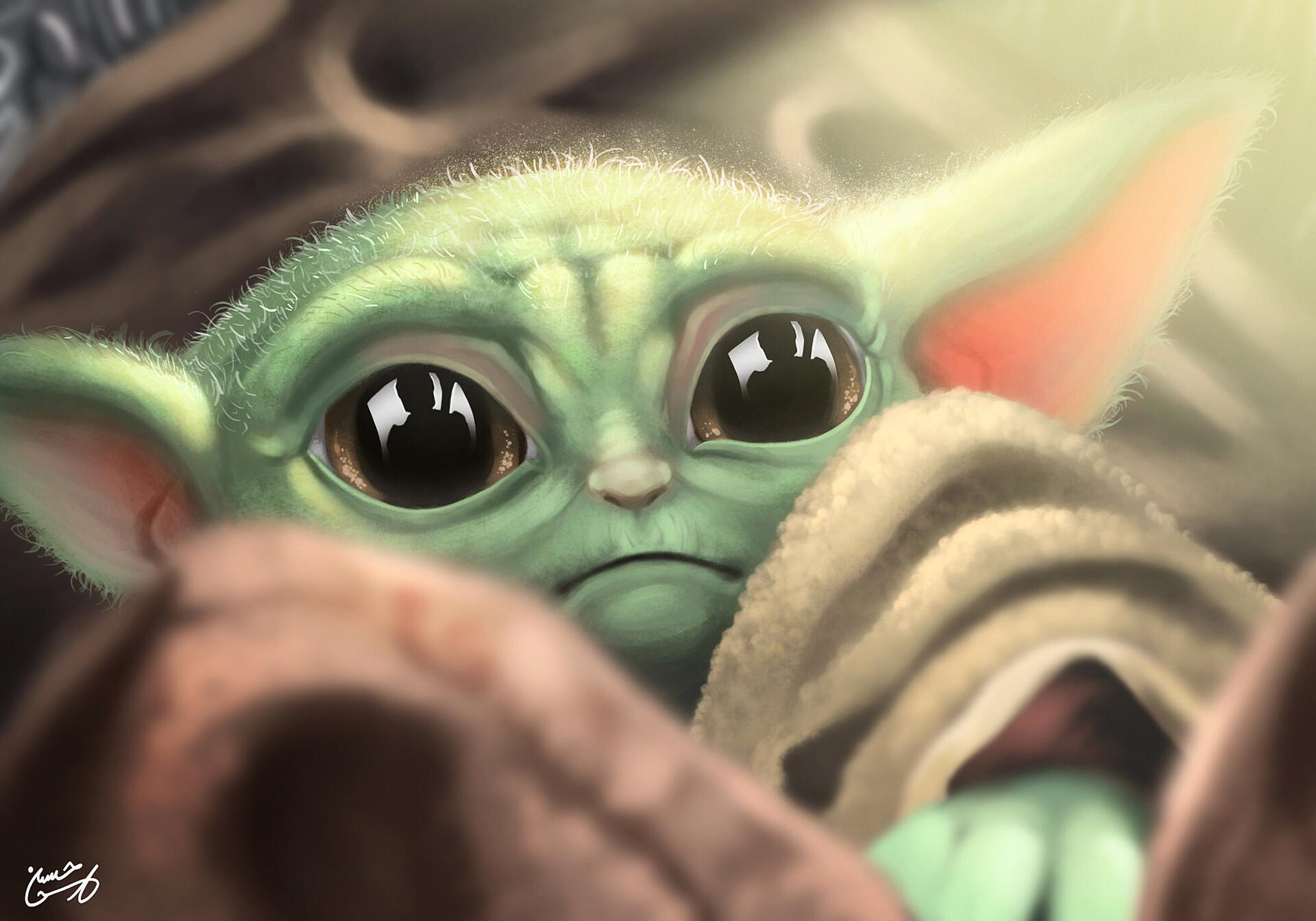Baby Yoda Star Wars The Mandalorian Wallpaper 1920x1345 Download Hd Wallpaper Wallpapertip