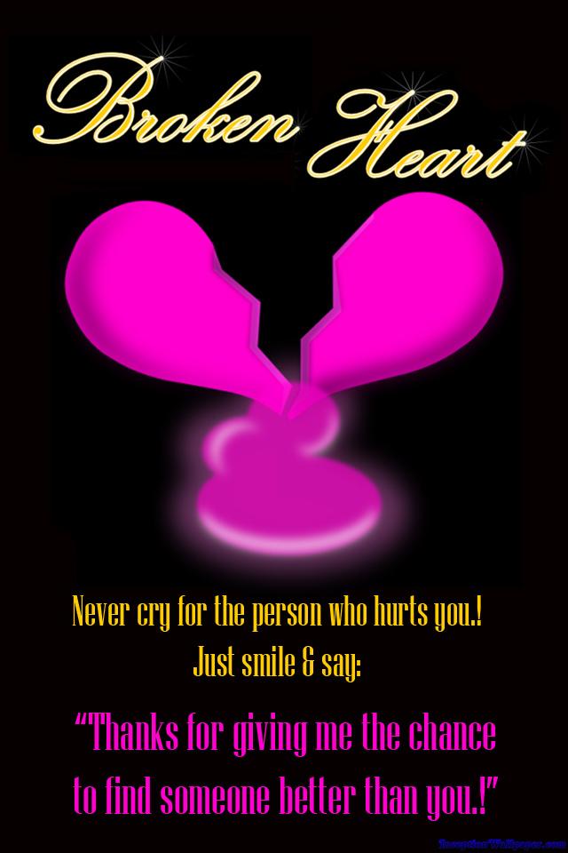 Broken Heart Quotes Iphone Wallpaper 640x960 Download Hd Wallpaper Wallpapertip