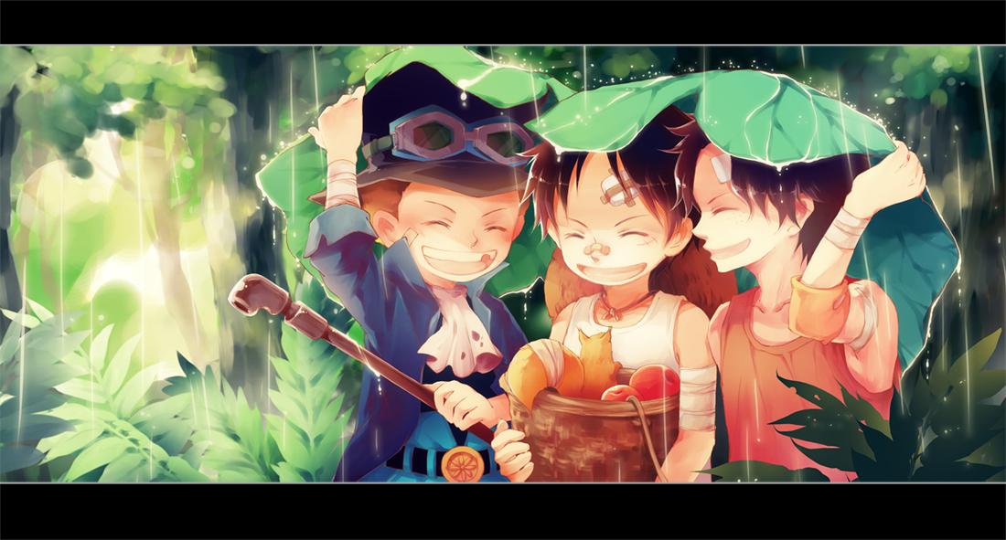 One Piece Ace Sabo Luffy Fanart 1100x591 Download Hd Wallpaper Wallpapertip