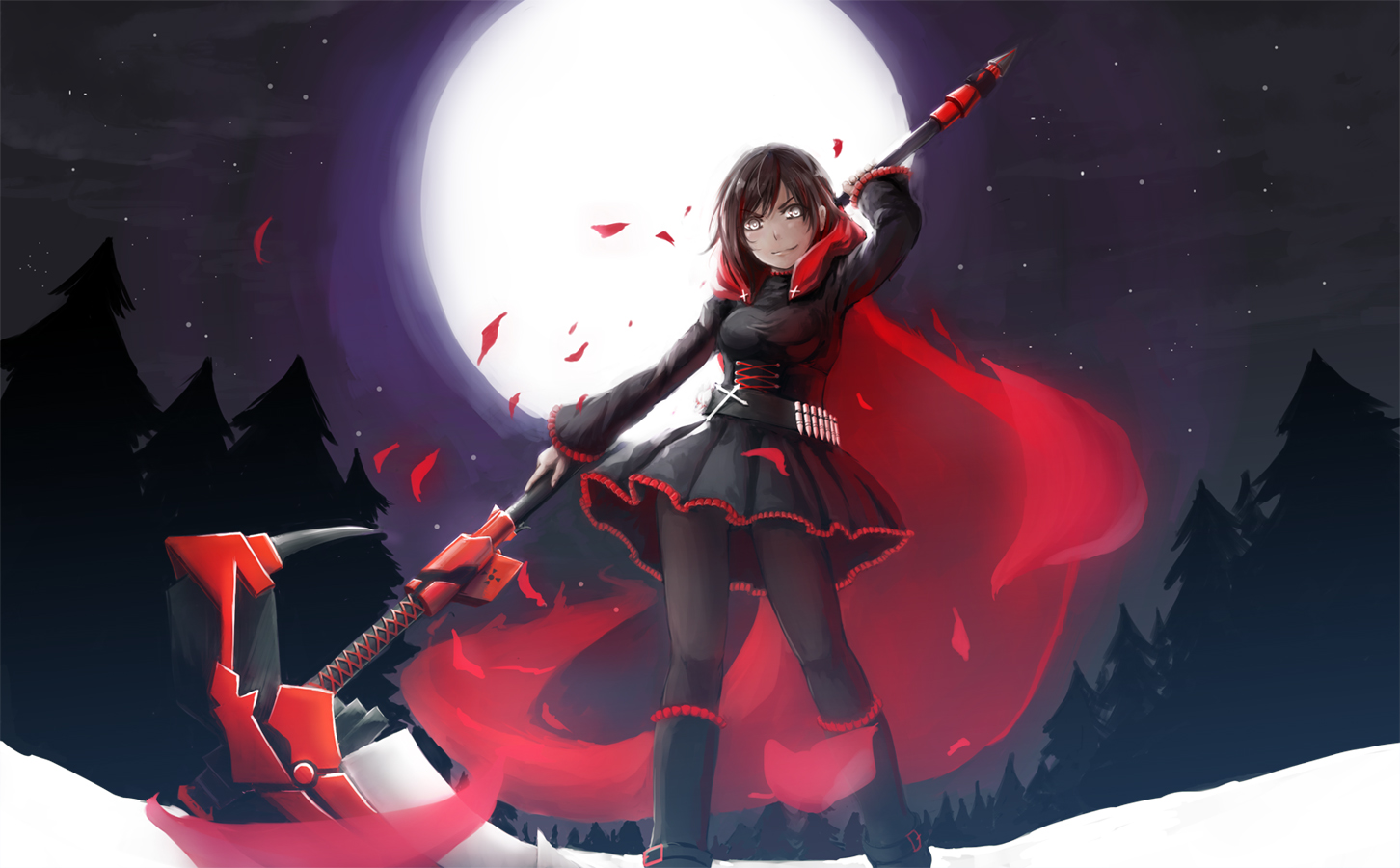 9 Title Ruby Rose Anime Rwby Ruby Rose Wallpaper - Anime Red