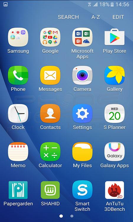 Samsung Galaxy J5 2016 Menu 450x750 Download Hd Wallpaper Wallpapertip