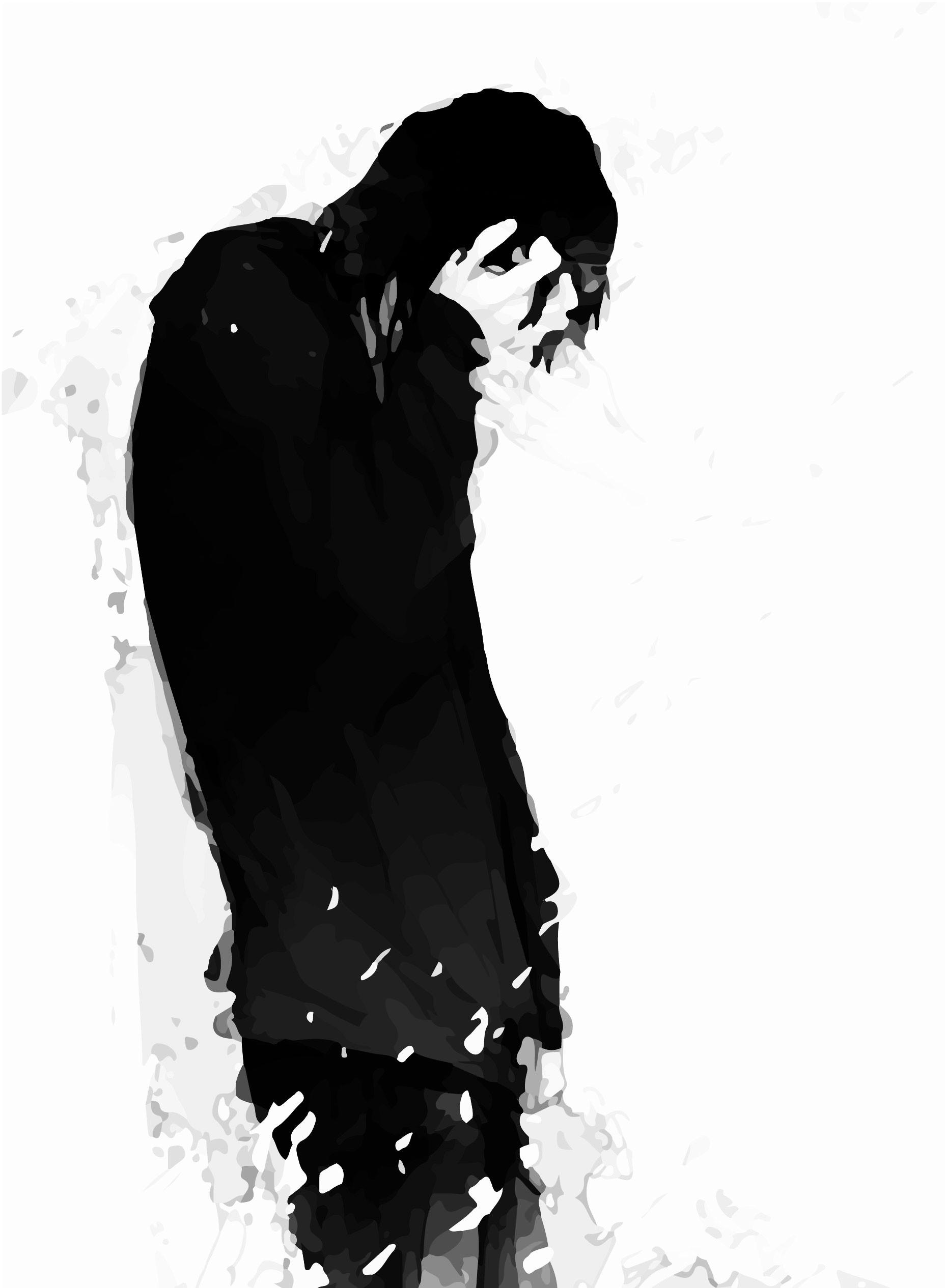 Alone Sad Anime Boy 735x1003 Download Hd Wallpaper Wallpapertip