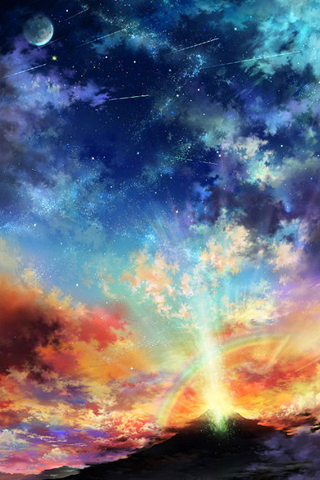 Colorful Sky Android Wallpaper Anime Scenery Hd Portrait 320x480 Download Hd Wallpaper Wallpapertip Download animated wallpaper, share & use by youself. colorful sky android wallpaper