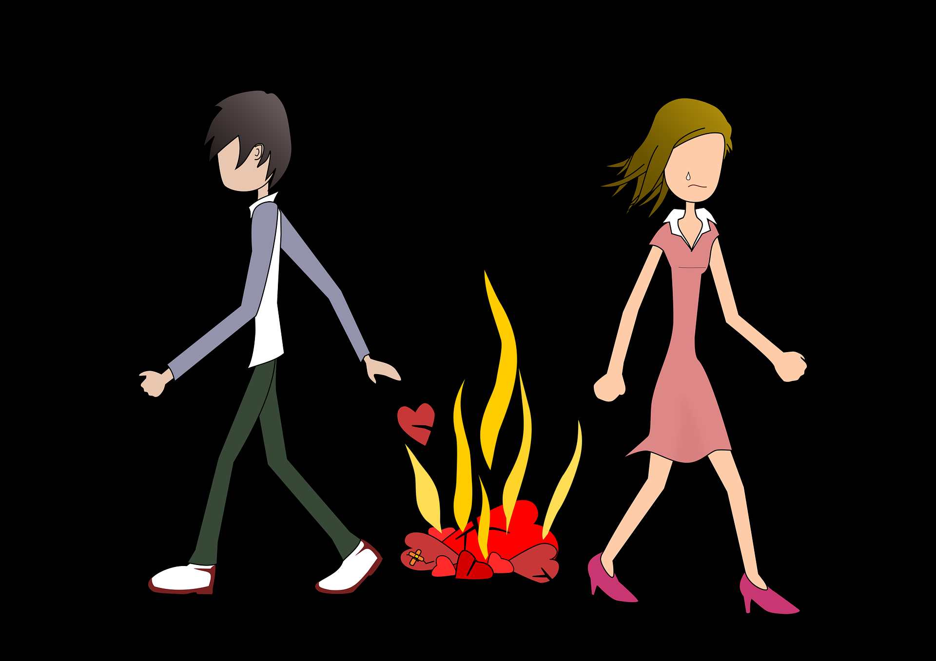 Couple Breaking Up Sad Image Graphics Sad Cartoon Pic Download 1920x1357 Download Hd Wallpaper Wallpapertip