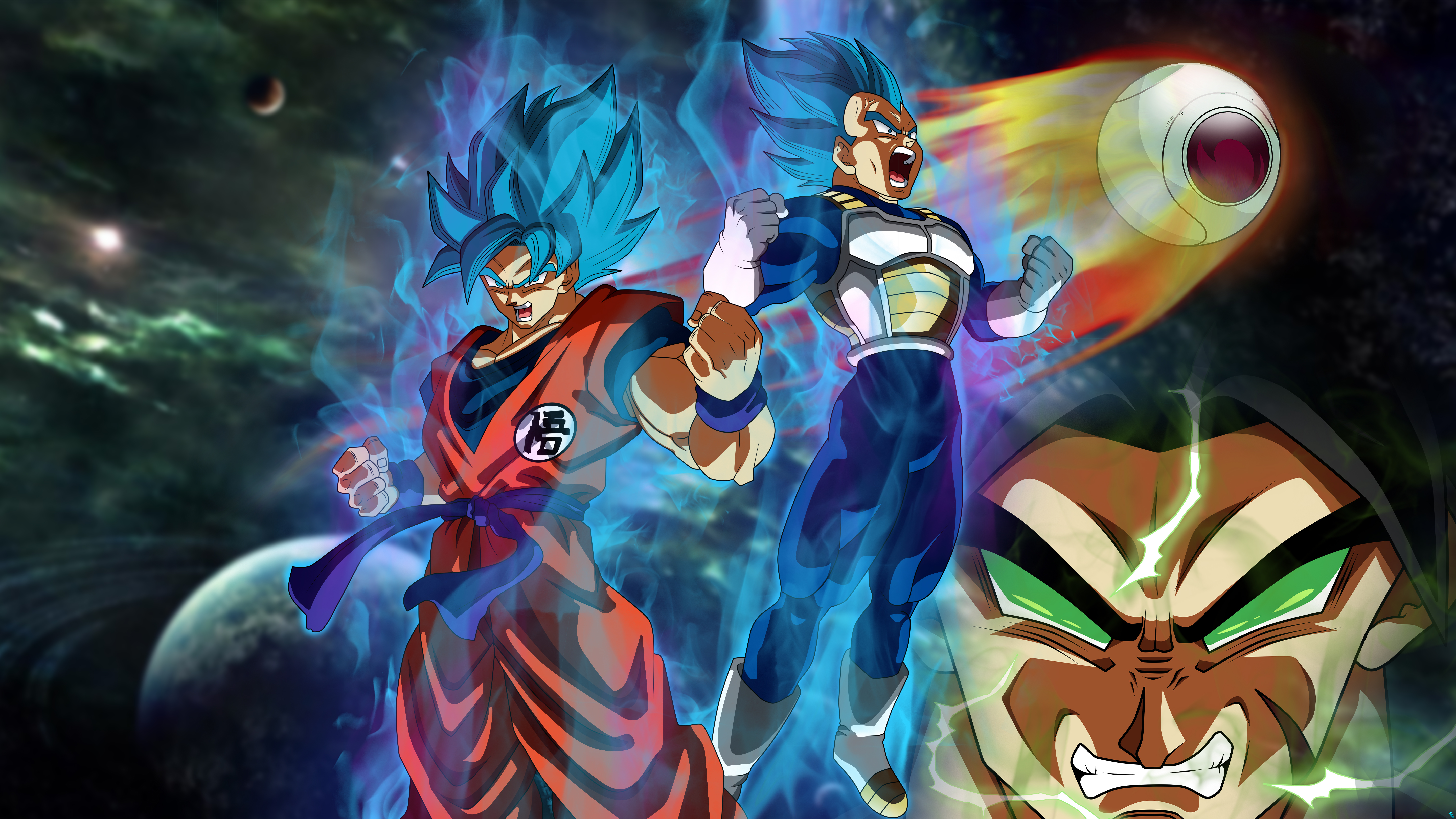 Goku And Vegeta Wallpaper 4k 5760x3240 Download Hd Wallpaper Wallpapertip