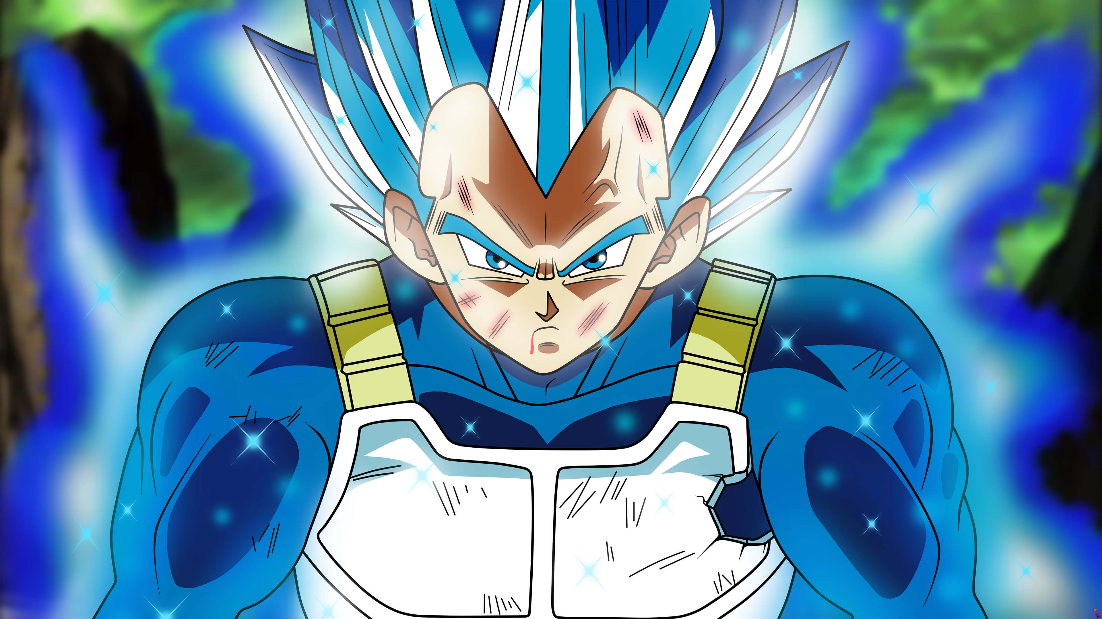Dragon Ball Perfected Super Saiyan Blue Vegeta Uhd Vegeta Super Saiyan Blue Evolution 3840x2160 Download Hd Wallpaper Wallpapertip