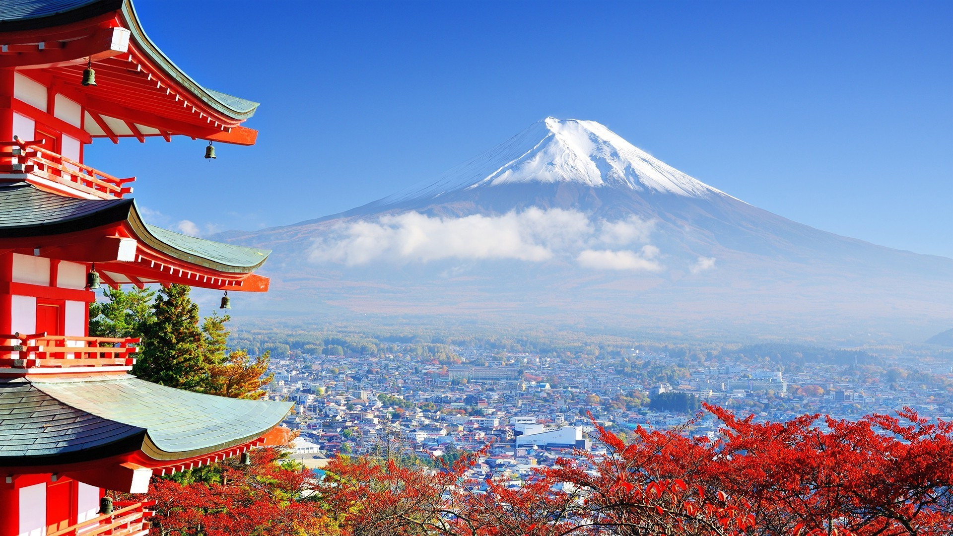 Japan Mount Fuji Building Nature Asian Architecture Mount Fuji Honshu Island Japan 1920x1080 Download Hd Wallpaper Wallpapertip