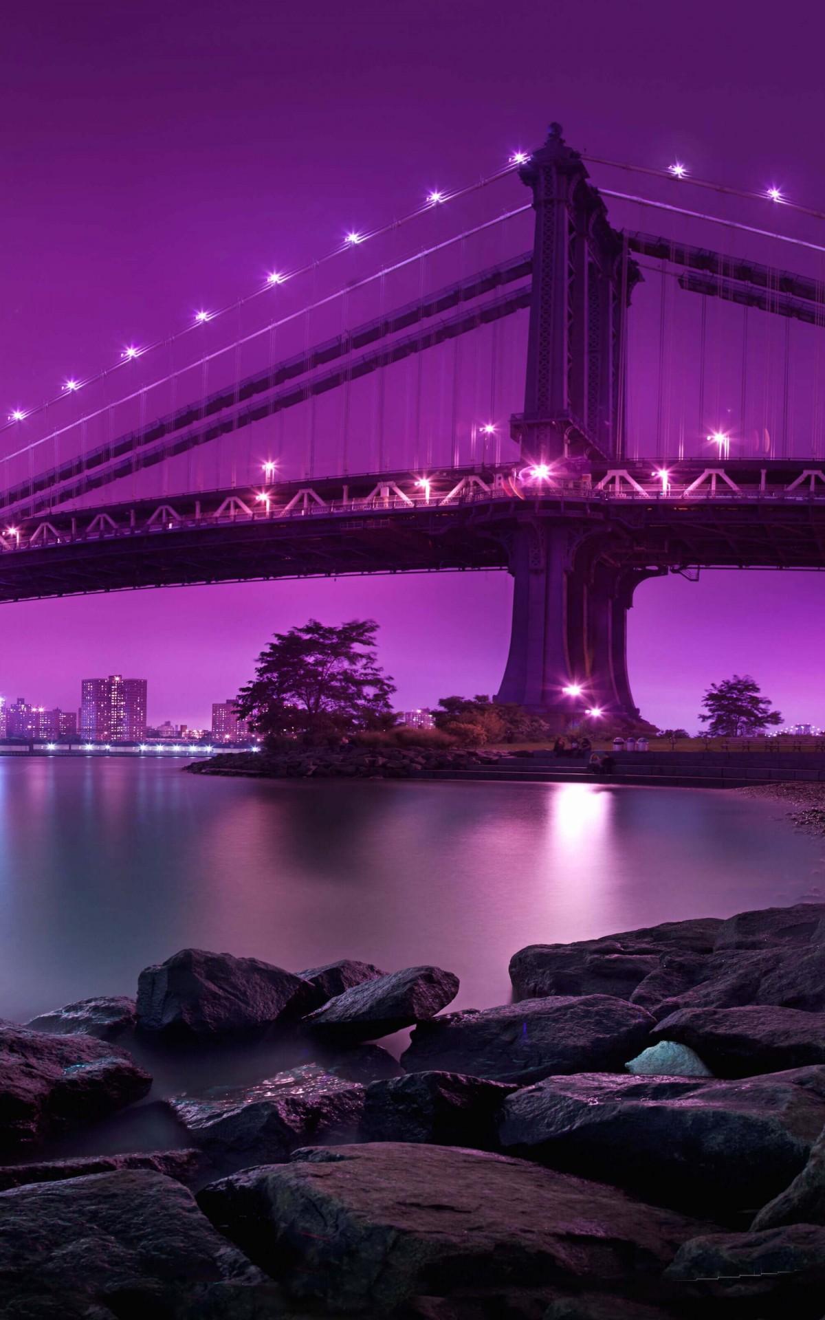 ブルックリンブリッジパーク アマゾン火壁紙 10x19 Wallpapertip