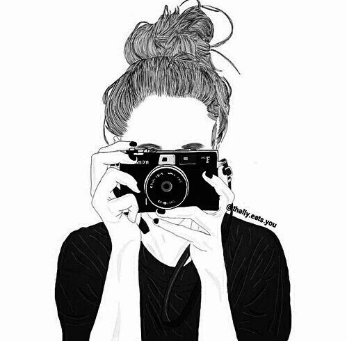 Photography Girl Drawing 499x490 Download Hd Wallpaper Wallpapertip