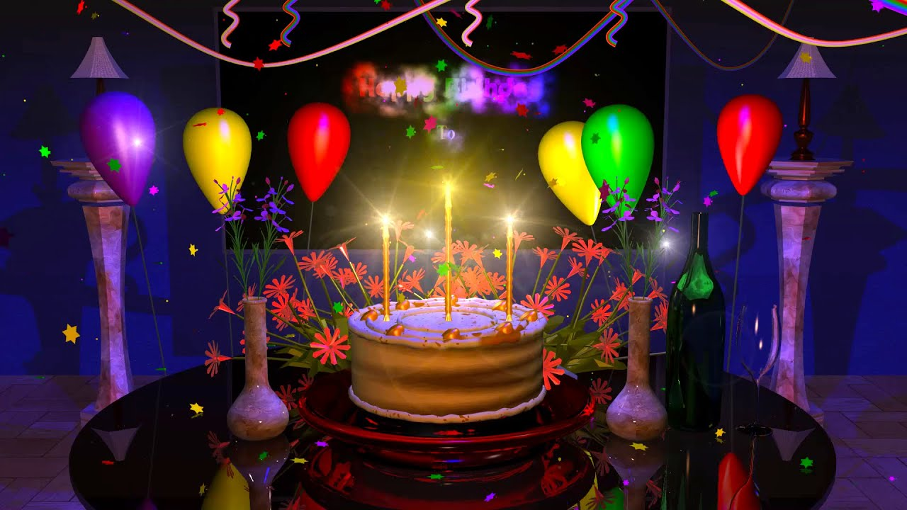 Animation Happy Birthday Wishes - 1280x720 - Download HD Wallpaper -  WallpaperTip