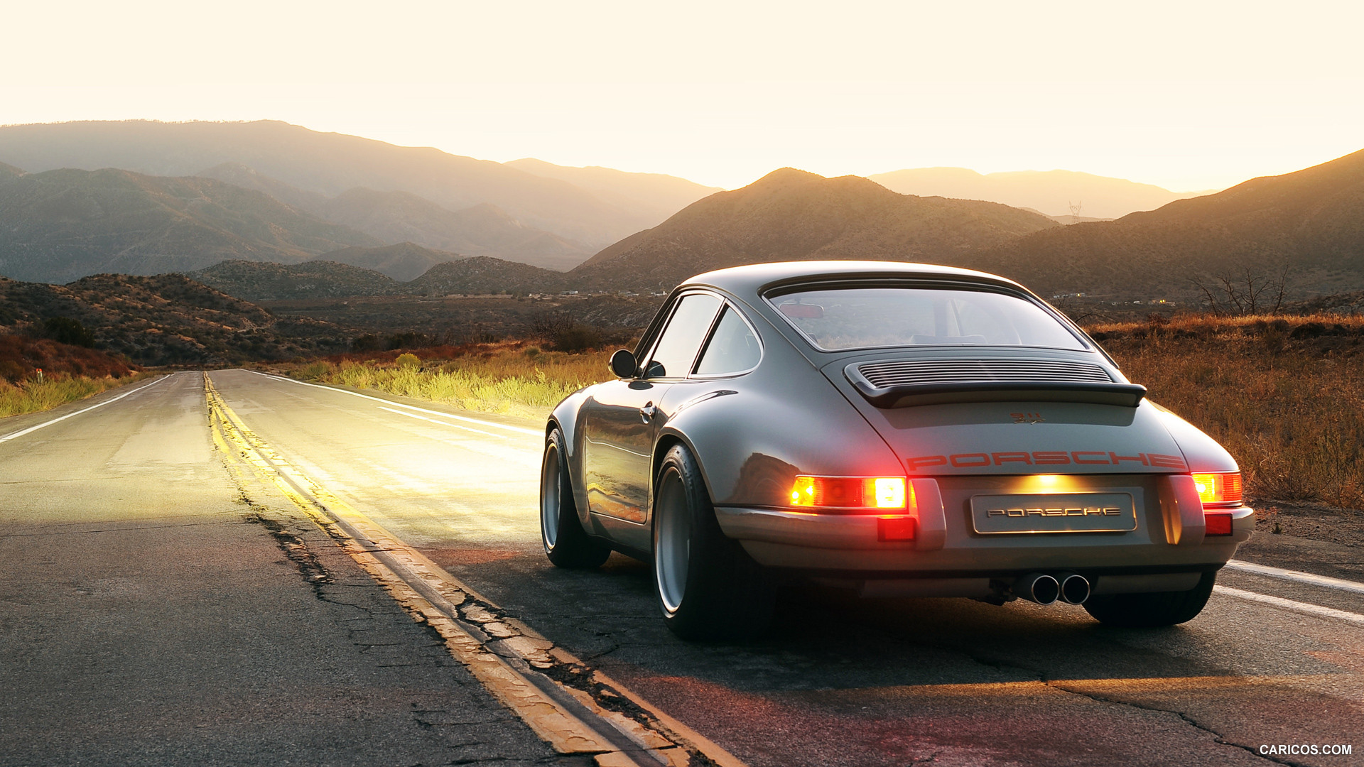 Singer 911 Wallpaper Singer Porsche 911 Rear Wallpaper Singer Porsche Wallpaper Hd 1920x1080 Download Hd Wallpaper Wallpapertip
