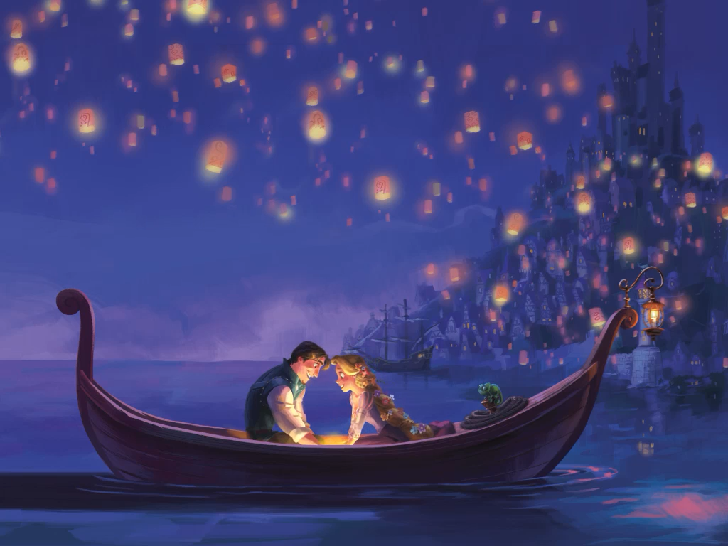 The Art Of Tangled Tangled Storybook Deluxe Floating Floating Lanterns Tangled Background 1024x768 Download Hd Wallpaper Wallpapertip