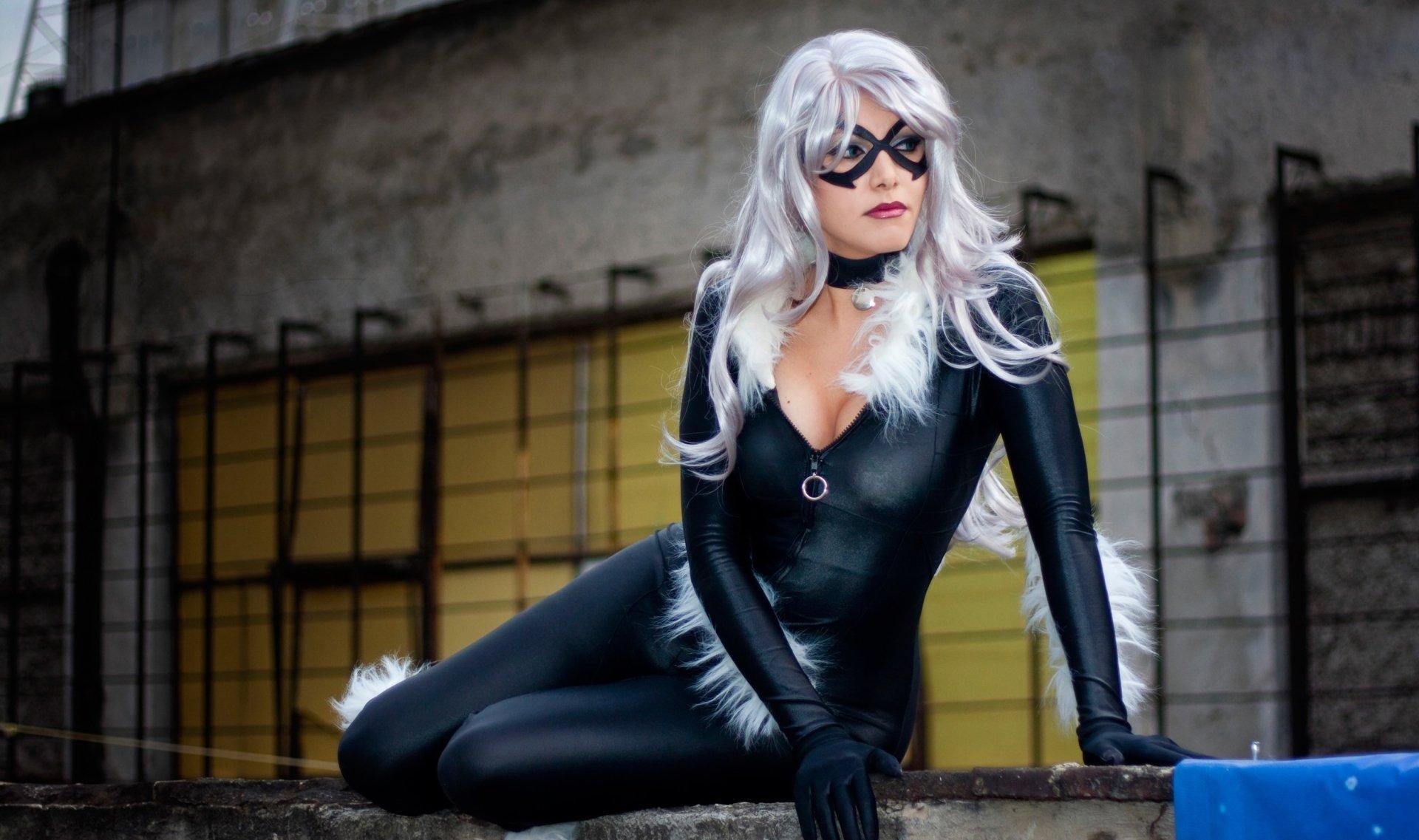 756508 Title Women Cosplay Black Cat Wallpaper Black Cat Marvel Cosplay 1920x1137 Download Hd Wallpaper Wallpapertip