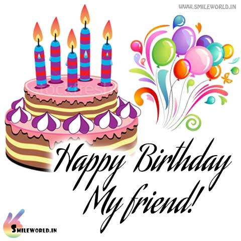 Happy Birthday My Friend Images Wallpapers Happy Birthday Wallpaper For Friend 480x480 Download Hd Wallpaper Wallpapertip